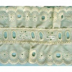 LIGHT CREAM / WHITE EYELET EMBRODERY INSERTION 011