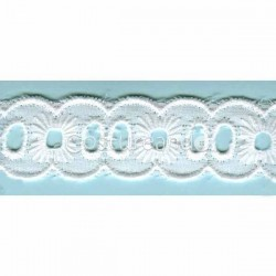 LIGHT CREAM / WHITE EYELET EMBRODERY INSERTION 012