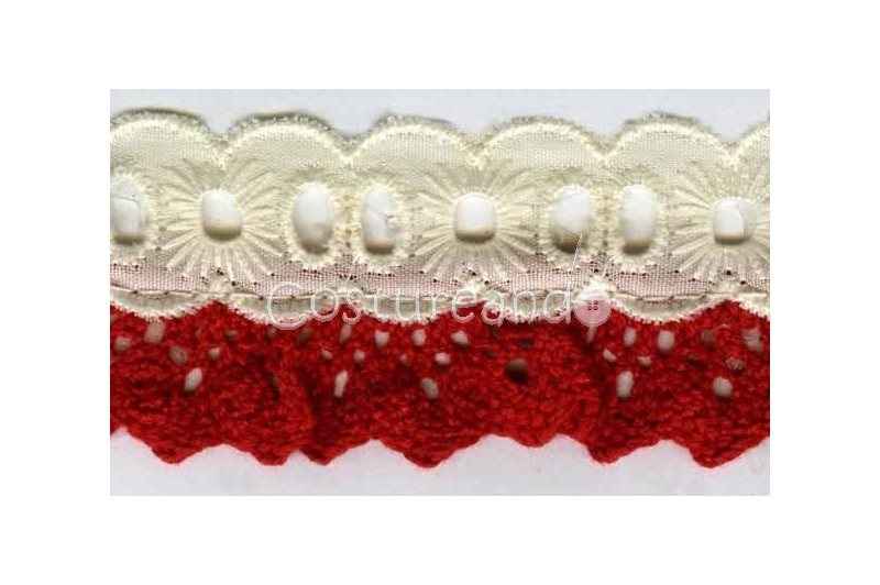 RUFFLED SPANISH BOBBIN & EMBRODERY LACE 001