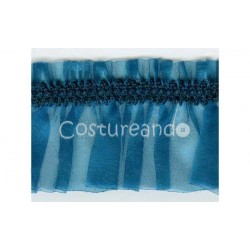 ELASTIC RUFFLED SHEER RIBBON  004