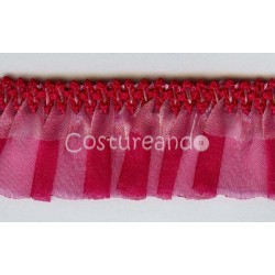 ELASTIC RUFFLED SHEER RIBBON  006