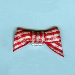 GINGHAM BOW APPLIQUE 004