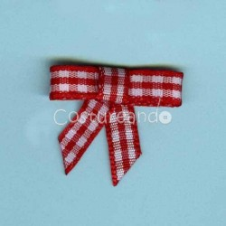 GINGHAM BOW APPLIQUE 006