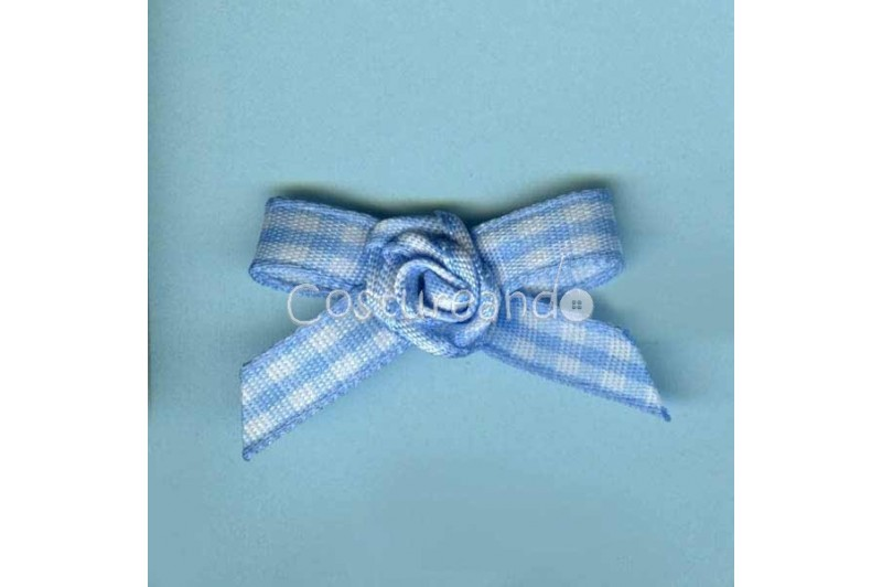GINGHAM BOW APPLIQUE 007