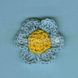 CROCHET BOW APPLIQUE 011