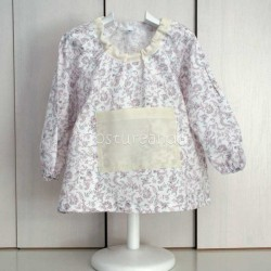 PINK FLOWER BABY SMOCK APRON