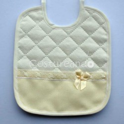 PADDED FABRIC BABY BIB