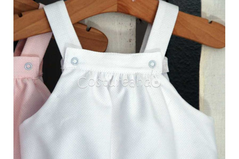 BABY DUNGAREE IN TINY PIQUÉ