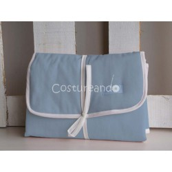 PLAIN BLUE BABY DIAPER CHANGER
