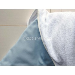 PLAIN BLUE  BABY HOODED TOWEL