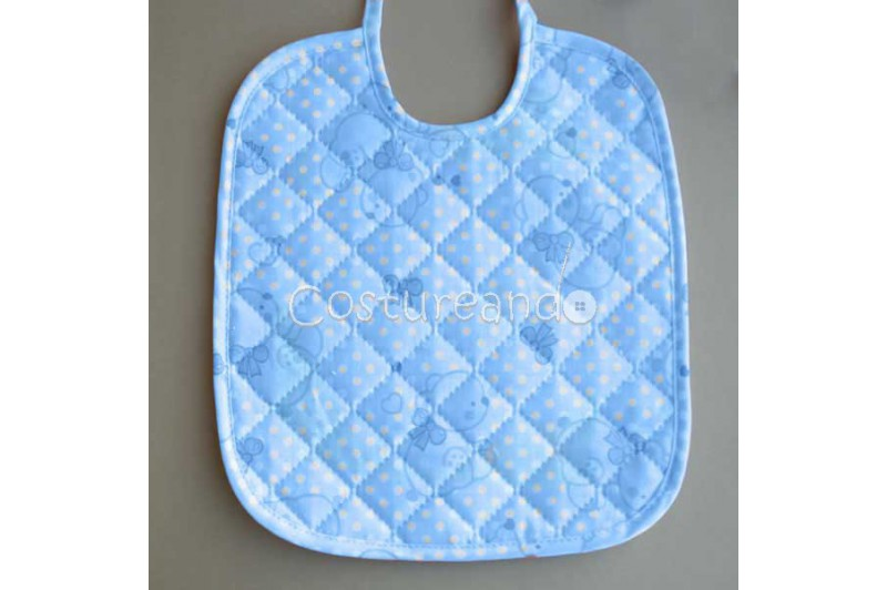 PADDED FABRIC BABY BIB PRINTED BEARS