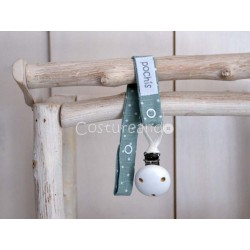 GREEN DOTS LINEN  DUMMY CLIP
