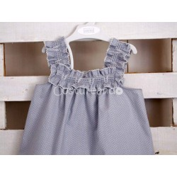 NIGHTDRESS GREY DOTS
