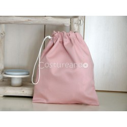 PLAIN PINK CLOTHES BAG