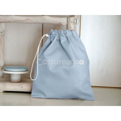 PLAIN BLUE CLOTHES BAG