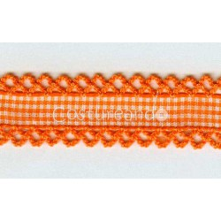 PLAIN COLOUR RIBBON PICOT EDGED 001
